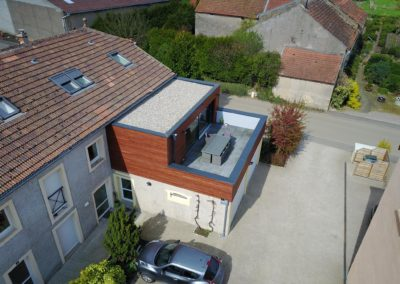 Extension et terrasse créées