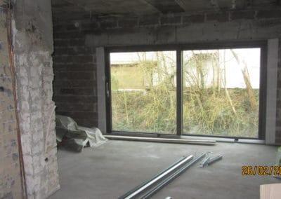 Baie vitrée 4 m aluminium