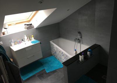 Salle de bains en combles