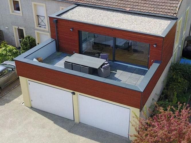 Création d'une extension et d'une terrasse